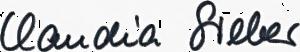 Claudia Unterschrift